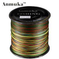 Wholesale Red Braided Fishing Line - Wholesale-500M Anmuka Brand Super Series Japan Multifilament PE Braided Fishing Line 4 Strands Braid Wires 8 LB 30LB 40LB 50LB 60LB 100LB