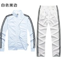 Wholesale Two Piece Men S Pants - Fall-Free shipping women   men's sports AD suits, high-quality sports jacket + pants two-piece. Fashion men track suit