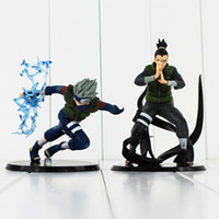 Wholesale Naruto Kid - Anime Naruto Shikamaru Nara Hatake Kakashi PVC Action Figure Collectable Model Toy for kids gift 23cm free shipping retail