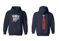 Wholesale Oklahoma City - 17-18 season basketball OKLAHOMA CITY Hoodies 0 Westbrook 13 George 7 Anthony any CUSTOM NAME AND Number SWEATTHIRTS