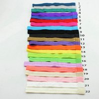 Wholesale Wholesale Foe Headband - 180pcs baby headband hair elastic bands FOE headbands newborn baby hair ealsitcs girls hairbands hair accessory