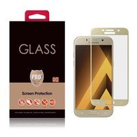 Wholesale 3m Film China - A3 A5 A7 2017 2.5D Covered Front 3M Glue Tempered Glass Screen Protector Film Samsung Galaxy Box Accessories Direct from Shenzhen China USA