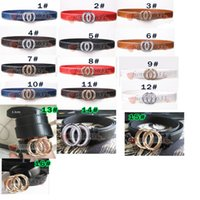 Wholesale Hottest Men Belts - NEW YEAR High Quality hot sale Famous Brand Men Women Leather Belt Gold Buckle Women Genuine Leather Designer Belts 16COLORS FREE SHIPPING