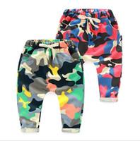 pantalones de camuflaje para niños al por mayor-Primavera Otoño Niños Bebé Pantalones de camuflaje Niños Pantalones de algodón Niños Harem Bloomers Pantalones de PP Pantalones de niños