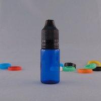 Wholesale 15ml Plastic Bottles Blue - 1000pcs Blue color 15ml and 30ml PET Bottle With Black Plastic eye Dropper Bottle , E Liquid PET Tamper Evident Cap