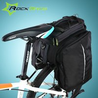 Pannier Bags/Rear Bags pack saddle panniers - ROCKBROS Cycling Rear Saddle Pack Bag Bicicleta Multi fonction Bags Bike Bicycle Rear Carrier Bags Rear Pack Trunk Pannier