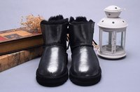 Wholesale White Roman Style High Heels - 2018 Classic short 1055 style Womens snow boots Winter Fashion style Warm stable With dust bag NEW Snow Boots for Women Christmas