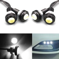10 Pcs / set étanche Led Eagle Eye Car Fog Drl Daytime inverse Parking sauvegarde 9w CLT_00q 12v Signal White Light