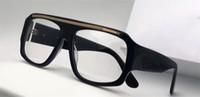 Wholesale Plastic Optical Lens - Classic vintage optical glasses oversized square design framework top quality transparent lens with original box 1573