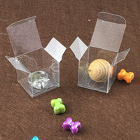 Wholesale Clear Display Packaging Gift Boxes - Wholesale- 3*3*3cm Clear PVC box Plastic Package Gift Box Candy Boxes,Wedding Box,transparent Jewelry Display Small Packing Boxes1lot=50pcs
