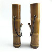 ingrosso oli di bambù-piattaforme petrolifere bambù bong 10.5 pollici 8mm di spessore tubi di acqua di fumo riciclatore bong con tubo di metallo più nuovo mini oil rig bong