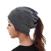 Wholesale Turbans Hats Scarves - 2016 Women spring winter Hats gorras wool knitted headband hat turban scarf beanies female fashion cap man letters hats mz061