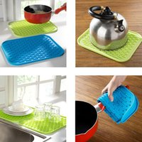 Used Bar Tables   Silicon Table Mat Tray Mat Hot Insulation Pot Holder  Square Anti Slip