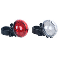 Wholesale bike white light online - New Bicycle Tail Light UFO Projection Taillight LED Safety Warning Light Bike Lamp Rear Lights Cycling AccessoryWaterproof Mode Red White