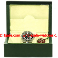 Wholesale Silver Watch Boxes - Wholesale - Luxury Perpetual Stainless Steel Ceramic GMT II Mens Watch Black # 116710 Box Papers Men's Watches