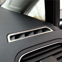 2pcs / set Car Stainless Steel Air Conditioning Vent Cover Sticker para Volkswagen VW Golf 7 VII MK7 2013 2014 Car Styling