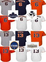 Cheap 2017 Houston Strong WS Campeones Parche Hombres Mujeres Jóvenes Toddler 6 Jake Marisnick 13 Tyler White Orange Blanco Grises Béisbol Jerseys