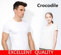 Wholesale Stylish Men S Clothing - Fashion Men Women T-shirt Top quality Crocodile Embroidery Stylish Summer T shirt Brand Tops Tees Plus Size S-5XL Men Clothing Short Sleeve