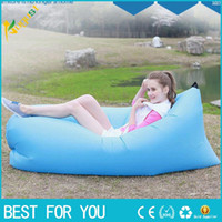 Wholesale New hot Fast Inflatable Camping Sofa banana Sleeping Lazy Chair Bag Nylon Hangout Air Beach Bed chair Couch