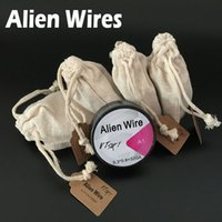 Wholesale E Cigarttes - Alien Wires Heating Wires For E Cigarttes DIY Coils 15ft 0.3*0.8+32GA Heating Wire For E Cigarettes RDA Vaporizers