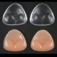ingrosso cuscini in bacino di silicone-Morbido reggiseno del bikini inserto in silicone del gel degli inserti Decolleté Enhancement triangolo Pad Enhancer costume da bagno push-up
