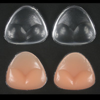 Wholesale Bikini Push Up Pad Gel - Soft Bikini Bra Insert Silicone gel Inserts Cleavage Enhancement Triangle Pads Enhancer Swimsuit Push-up