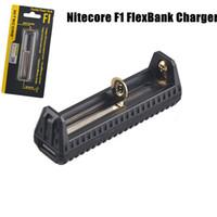 f1 ladegerät großhandel-Authentisches Nitecore F1 FlexBank-Ladegerät Universelles intelligentes Nitecore F1-Ladegerät 18650 14500 26650 Akku USB-Ladegerät DHL-frei