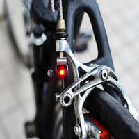 Wholesale Brake Lamp Bicycle - Portable Mini Brake Bike Light Mount Tail Rear Bicycle Light Cycling LED Light High Brightness Waterproof red LED lamp BL1901