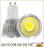 e14 24v lamba toptan satış-Süper Parlak GU10 LED Ampul 3 W 5 W 7 W LED lamba işık GU10 COB Dim GU 10 led Spot Sıcak / Soğuk Beyaz Ücretsiz kargo