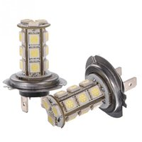 Wholesale pure headlight bulbs - 2016 car-styling Pure White 5W H7 18 SMD LED Car Auto Light Source Driving Fog Headlight Bulb Lamp DC12V