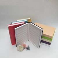 Wholesale Book Displays - 2017 New Gold 160 Colors Nail Color Card Display Book Inlaid Snap Nail Display Buch Tool
