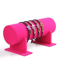 30x11cm Pink / Black Fabric Jóias Top Luxo Velvet T-Bar Jóias Head Band Display Stand Organizer