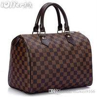 Wholesale Gray Clutch Bags - 2017 Hot Sale Men Leather Bags famous Brand Wallet Vuitton Fashion Clutch Genuine Leather Purse Ladies Handbags GG KaTe Bag LOUIS##45