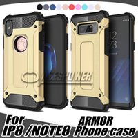 Wholesale armor moto - Hybrid Armor Cases For Iphone X Iphone8 Sammsung Galaxy Note 8 S8 S9 Plus google pixel X1 LG G6 V20 Moto G4 G5