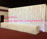 Wholesale Led Wedding Cake Toppers - 3m by 6m pipe and drape and LED curtain with free shipping wedding decoration wedding curtain pipe and drape and LED curtain