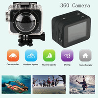 Wholesale H 264 Professional Dvr - New Sport Video Camera X360 H.264 360 Degrees SportS Cam mini camcorder 360x190 Large Panoramic 360 Degree Video DV DVR MOQ:1PCS