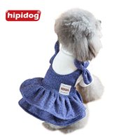 Wholesale Dog Jeans Skirt - Hipidog New Arrival Spring Autumn Dog Demin Jeans Skirt Shirt Clothes Pet Puppy Overalls Dress Coat Jacket for Small Dogs