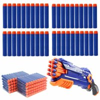 Wholesale Eva Blaster - Wholesale 50 Pcs lot Safety Shooting Soft EVA Bullets Darts Toys for Blaster Nerf Gun N-Strike Free Shipping