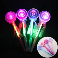 34CM Cute Lollipop Ribbons LED Glowing Stick Clignotant Light Kids Concert Wedding Birthday Party Decoration OTH638
