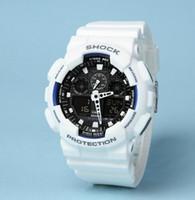 Wholesale Sport Watches Running - AAA Autolight GA100 men sports watch All pointer work running hiking digital shock 100 110 watches Original Box