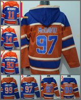 Wholesale Cotton Mix - 2017 Cheap Stitched Edmonton Eoilers Hoody #97 McDavid 99 Gretzky 14 Eberle 11 MESSIER hockey Orange Blue Jerseys Ice Jersey ,Hoodie Mix