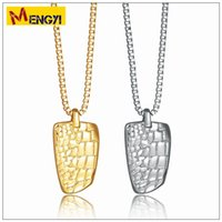 Wholesale Charms Crocodiles - 2018 NEW Hip Hop Necklaces Reggae Crocodile Grain Shape Uzi Golden Pendant High Quality Necklace Gold Chain Popular Fashion Pendant Jewelry