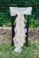 Wholesale Wholesale Vintage Accessories Cheap - 2016 Chiffon Ruffles Wedding Chair Sashes Vintage Romantic Chair Covers Floral Wedding Supplies Cheap Wedding Accessories
