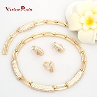 Wholesale Costume Rhinestone Necklace - WesternRain Blue Whitei Wedding Accessories Gold Plated jewelry Floating Charms Lockets Wholesale Vogue Woman Costume America Jewelry A090