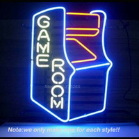 All'ingrosso-Video Game Room Real Glass Neon Segno Birra Neon Bulb Room Ricreazione Garage Windows Lampada da parete Neon Segni Grandi Regali 18x14