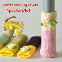 sandalye ayak pedleri toptan satış-4 adet / 1 takım yeni ev kalınlaşmak örme masa sandalye bacak kapak zemin kapak zemin koruyucu sandalye ayak pedleri sandalye bacak çorap ücretsiz kargo
