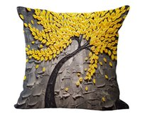 Cuscino Cover Cuscino cuscino Fiore Giallo Giallo Giallo Muro Wintersweet Cherry Blossom Home Cuscino decorativo Throw Cuscino