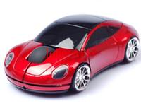 mini dizüstü bilgisayar satışı toptan satış-Sıcak satış Mini 2.4 Ghz 10 m Kablosuz Optik Mouse Fare 1600 DPI Araba Şekli USB Alıcı PC Laptop Notebook