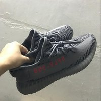 Wholesale Pink Tins - SPLY 350 V2 Boost Beluga 2.0 Grey Bold Orange AH2203 Kanye West Running Shoes Blue Tin Fluorescent green Yebra Sports Sneakers With Box