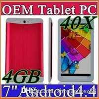 Wholesale Cheapest 3g Phablet - 40X 2015 cheap 7 inch 3G Phablet Android 4.4 MTK6572 Dual Core 4GB Dual SIM GPS Phone Call WIFI Tablet PC With Bluetooth EBOOK B-7PB